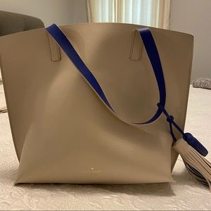 Kate Spade Cream/Blue tote - EXCELLENT condition